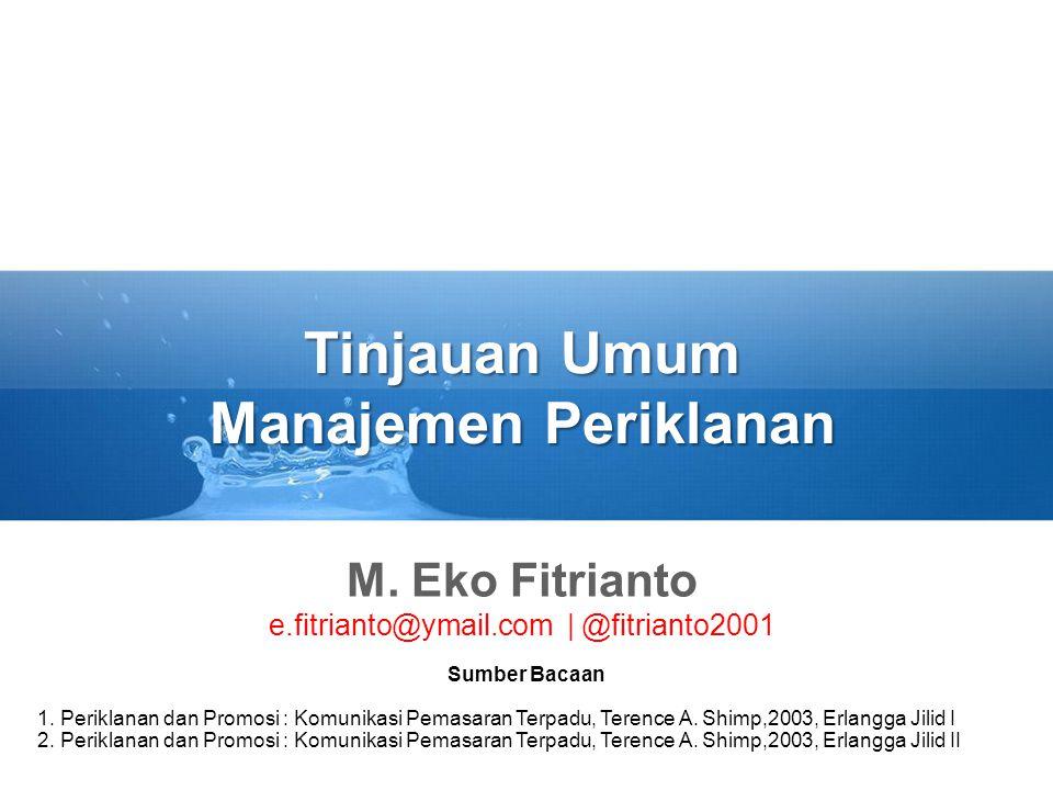 Tinjauan Umum Manajemen Periklanan