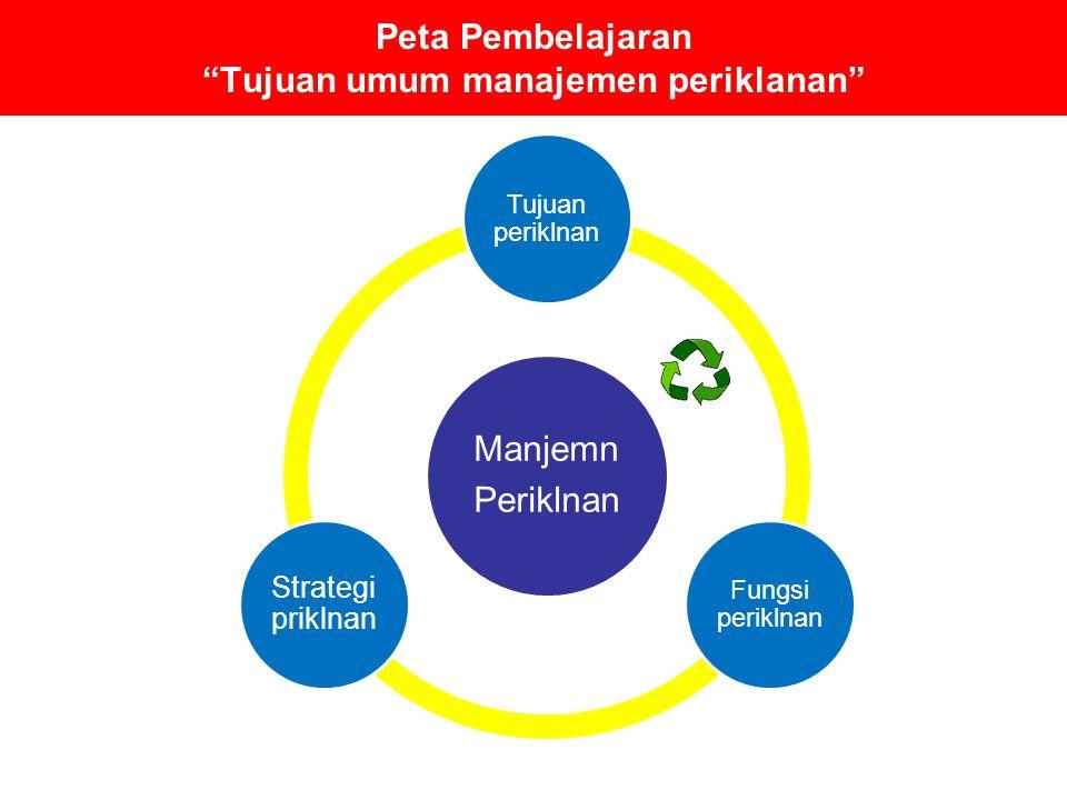 Peta Pembelajaran Tujuan umum manajemen periklanan