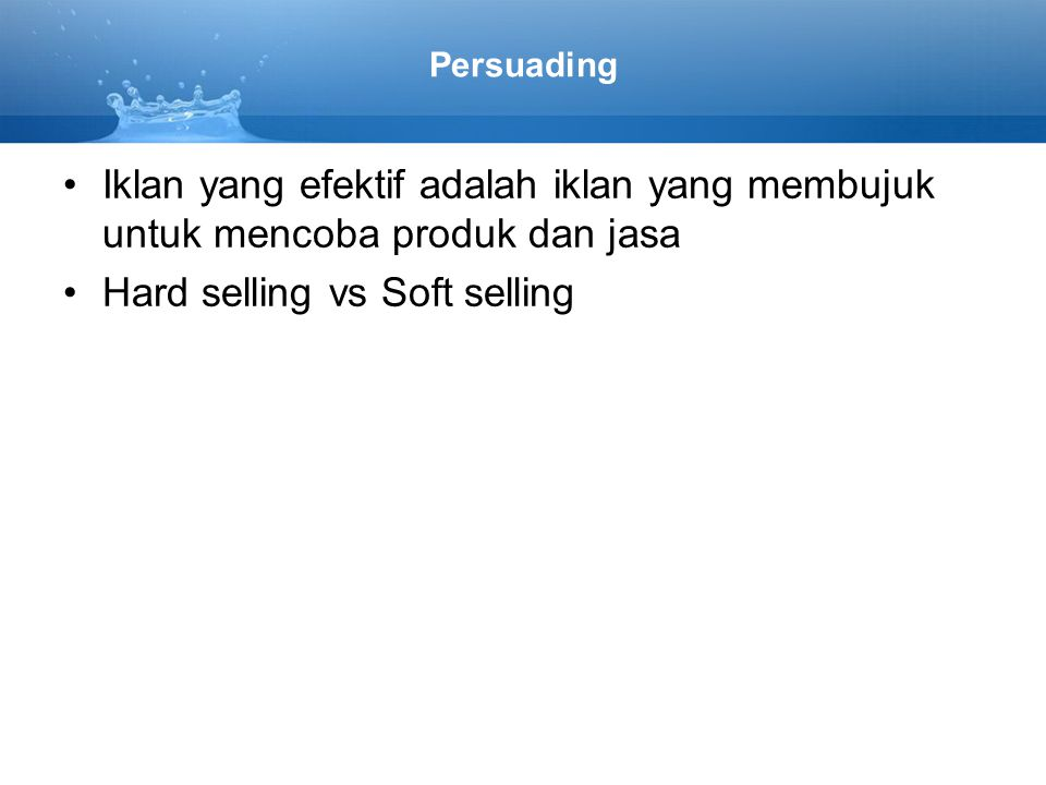 Hard selling vs Soft selling