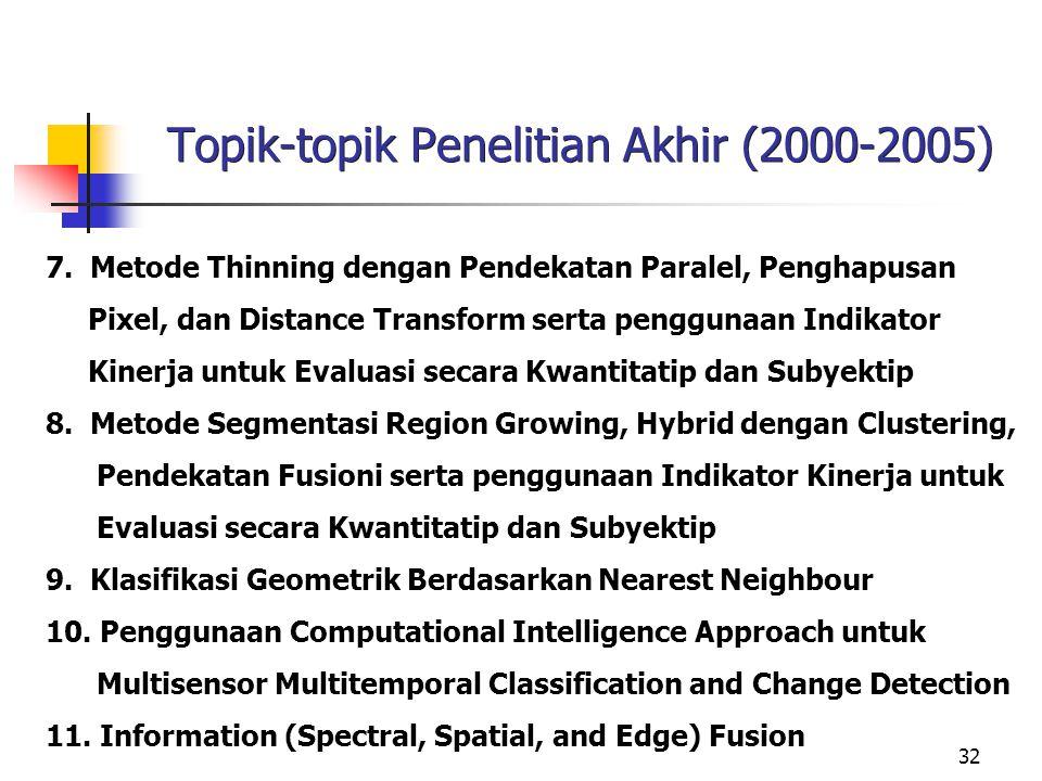 Topik-topik Penelitian Akhir (2000-2005)