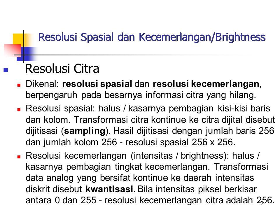 Resolusi Spasial dan Kecemerlangan/Brightness