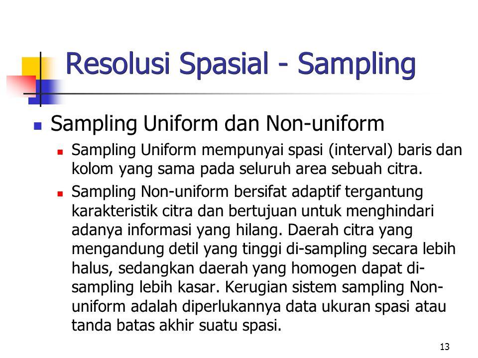 Resolusi Spasial - Sampling