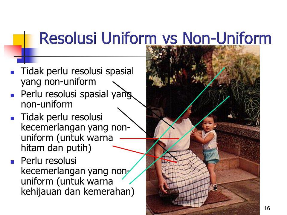 Resolusi Uniform vs Non-Uniform