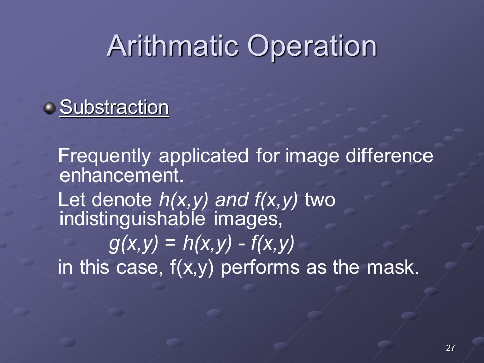 Arithmatic Operation Substraction