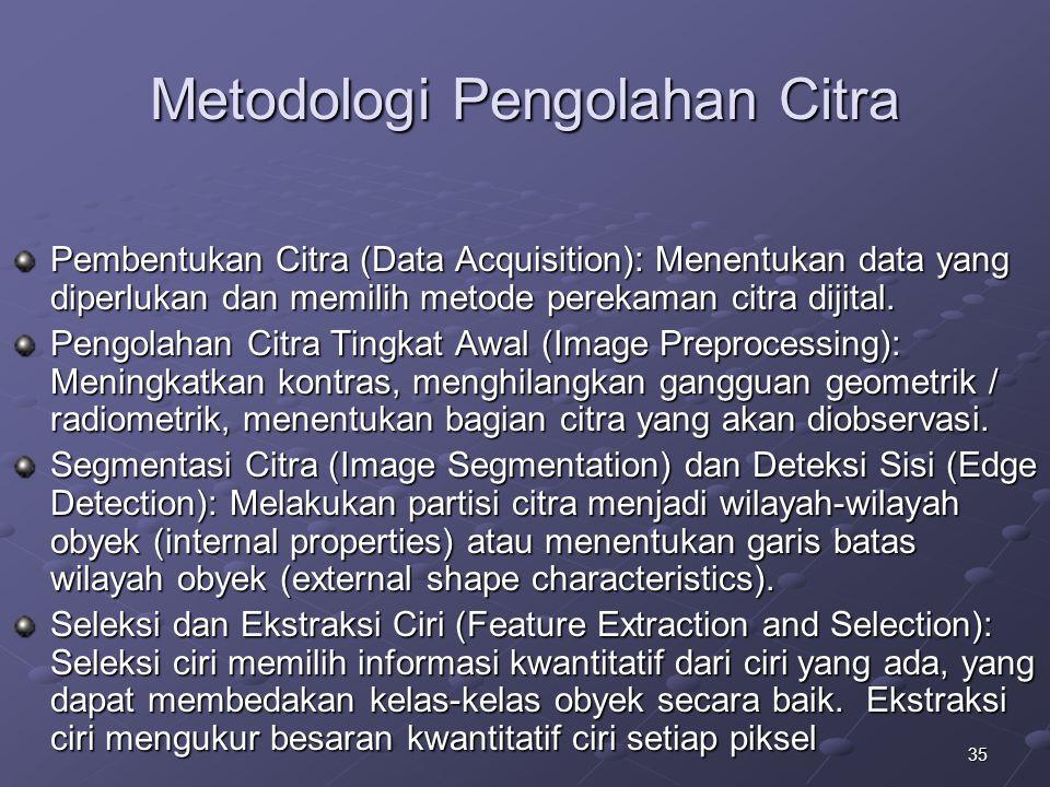Metodologi Pengolahan Citra
