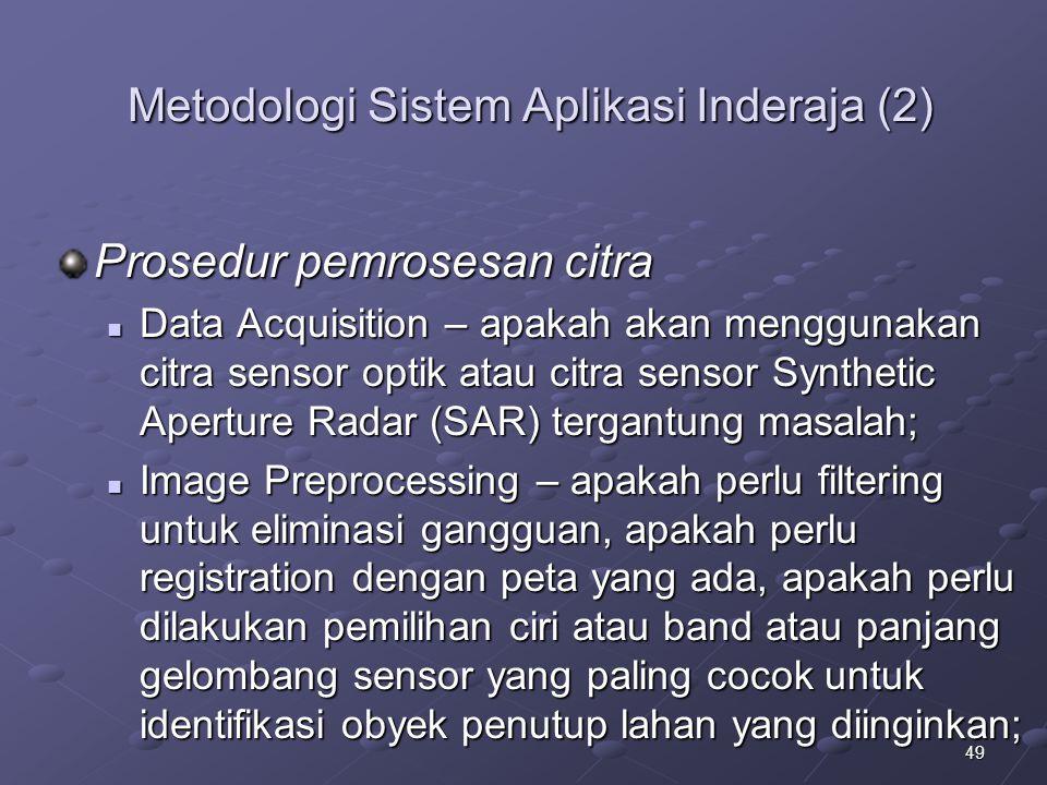 Metodologi Sistem Aplikasi Inderaja (2)