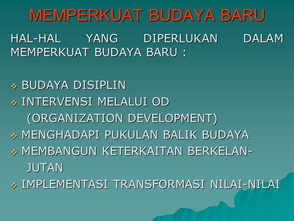 MEMPERKUAT BUDAYA BARU