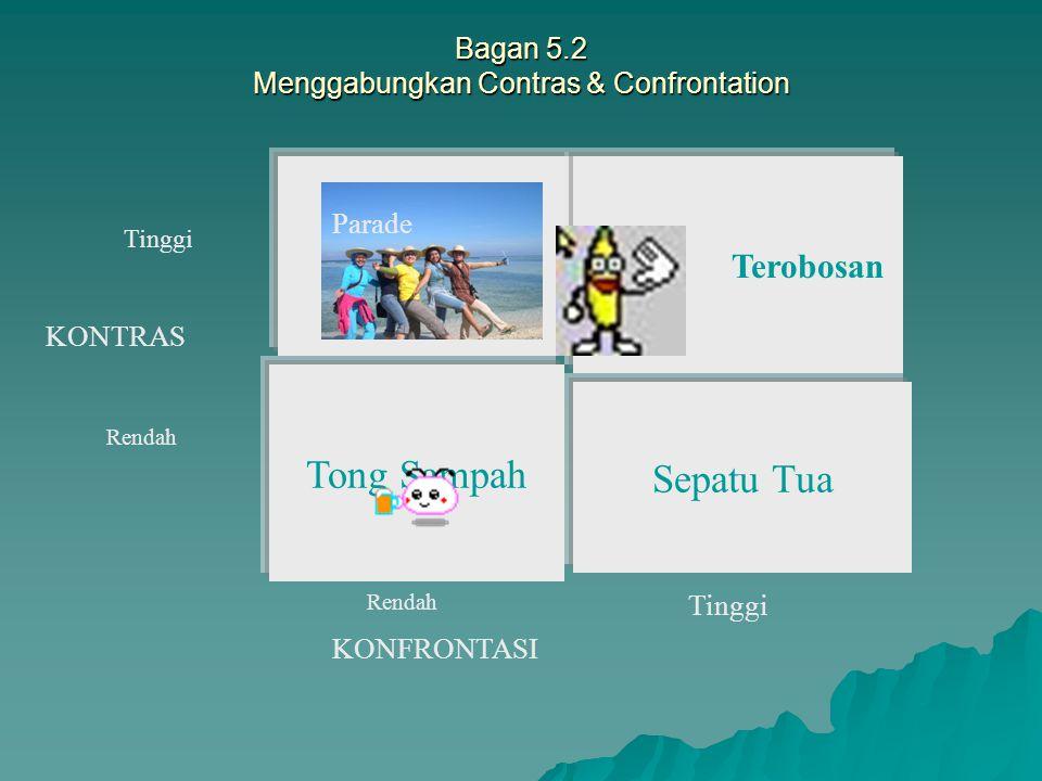 Bagan 5.2 Menggabungkan Contras & Confrontation