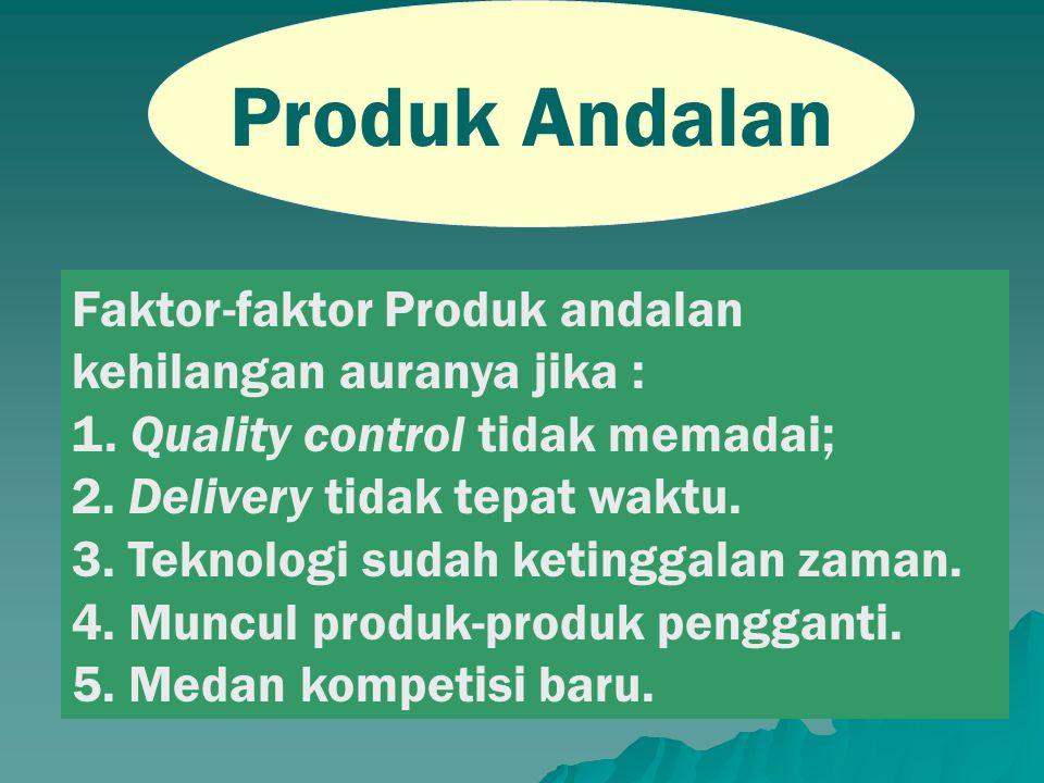 Produk Andalan Faktor-faktor Produk andalan kehilangan auranya jika :