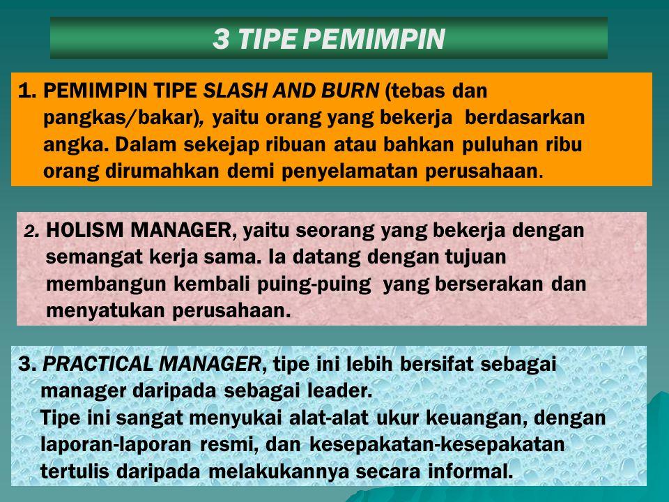 3 TIPE PEMIMPIN