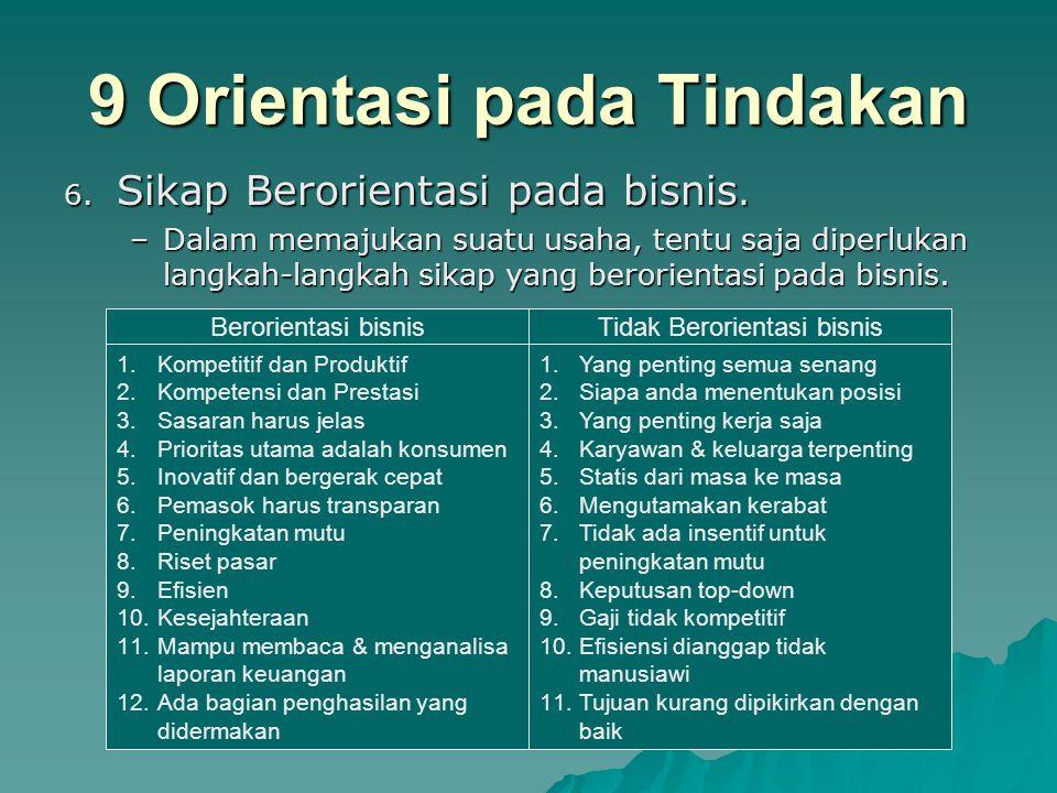 9 Orientasi pada Tindakan