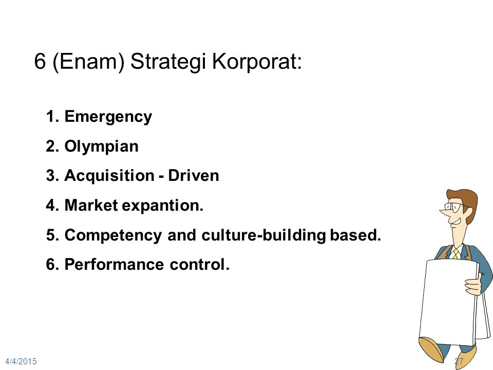 6 (Enam) Strategi Korporat: