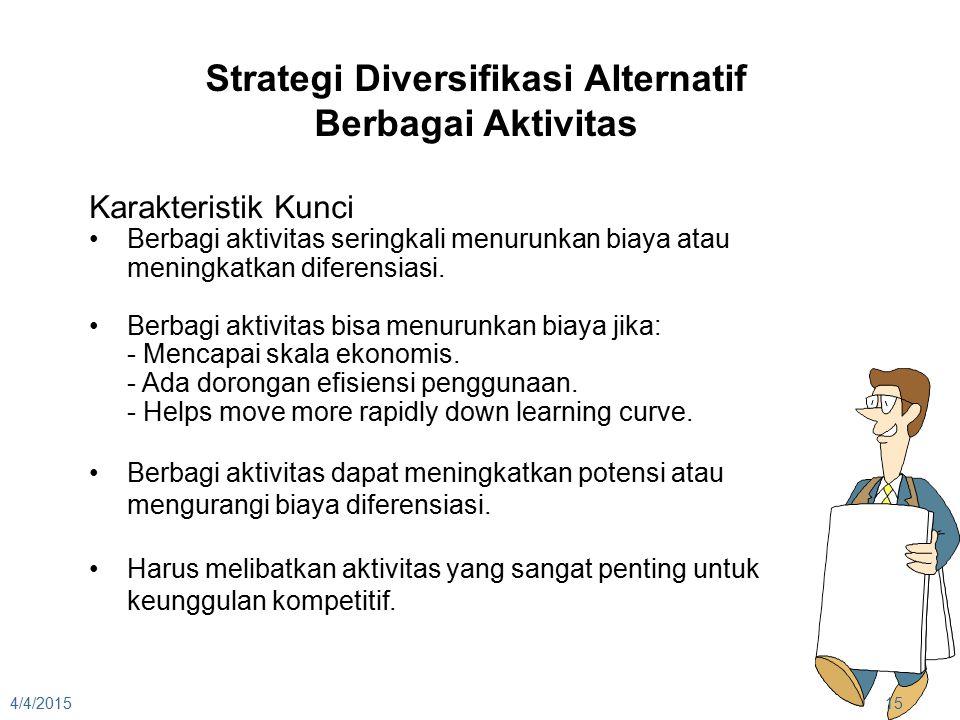 Strategi Diversifikasi Alternatif Berbagai Aktivitas