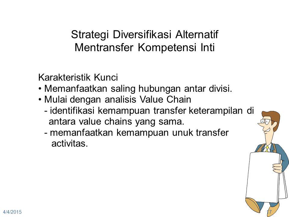 Strategi Diversifikasi Alternatif Mentransfer Kompetensi Inti