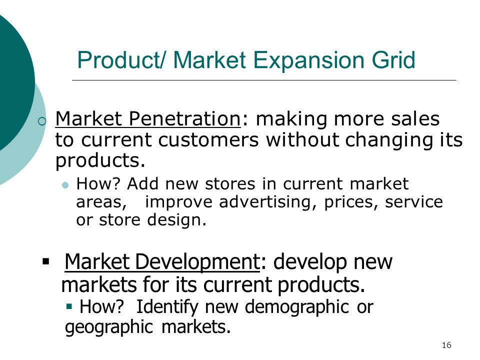 product market expansion grid of starbucks