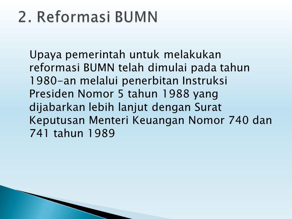 2. Reformasi BUMN