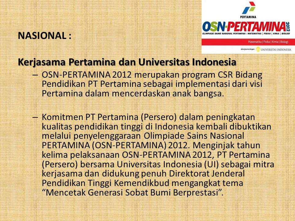 Kerjasama Pertamina dan Universitas Indonesia
