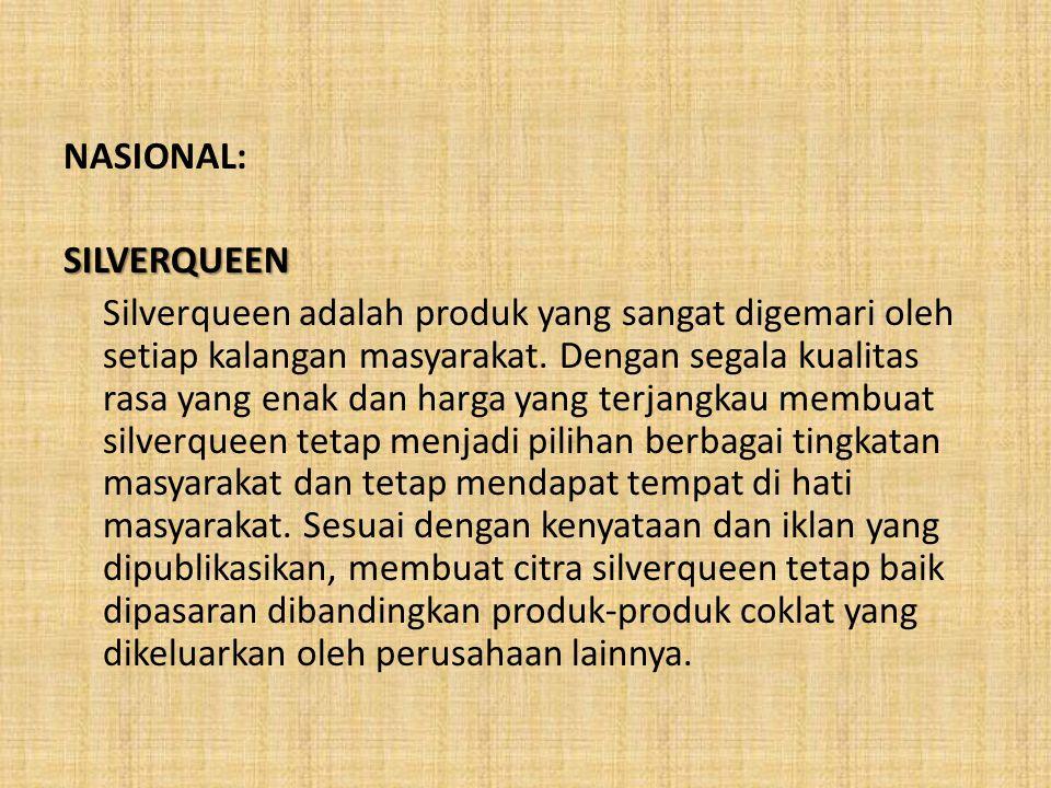 NASIONAL: SILVERQUEEN.