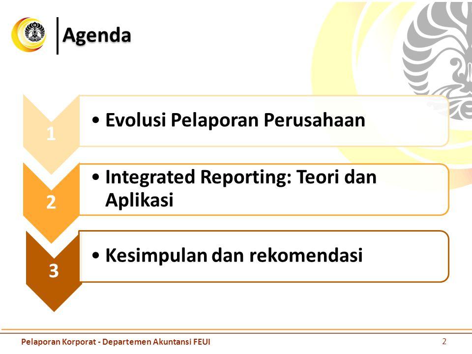 Agenda 1 Evolusi Pelaporan Perusahaan 2
