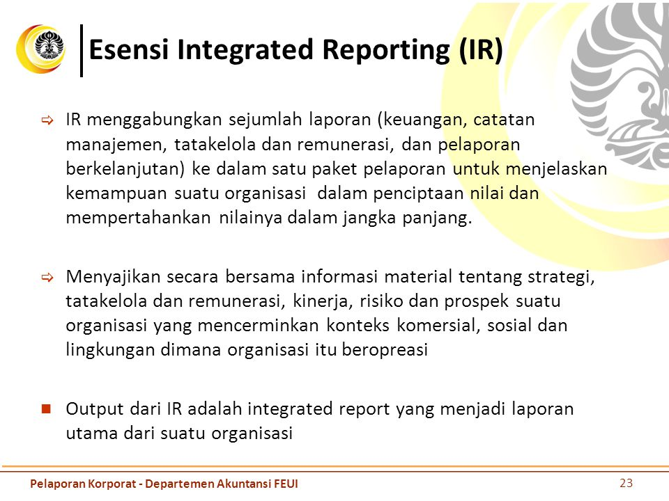 Esensi Integrated Reporting (IR)