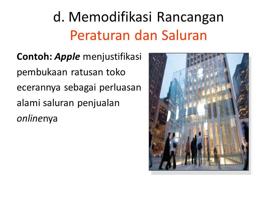 d. Memodifikasi Rancangan Peraturan dan Saluran