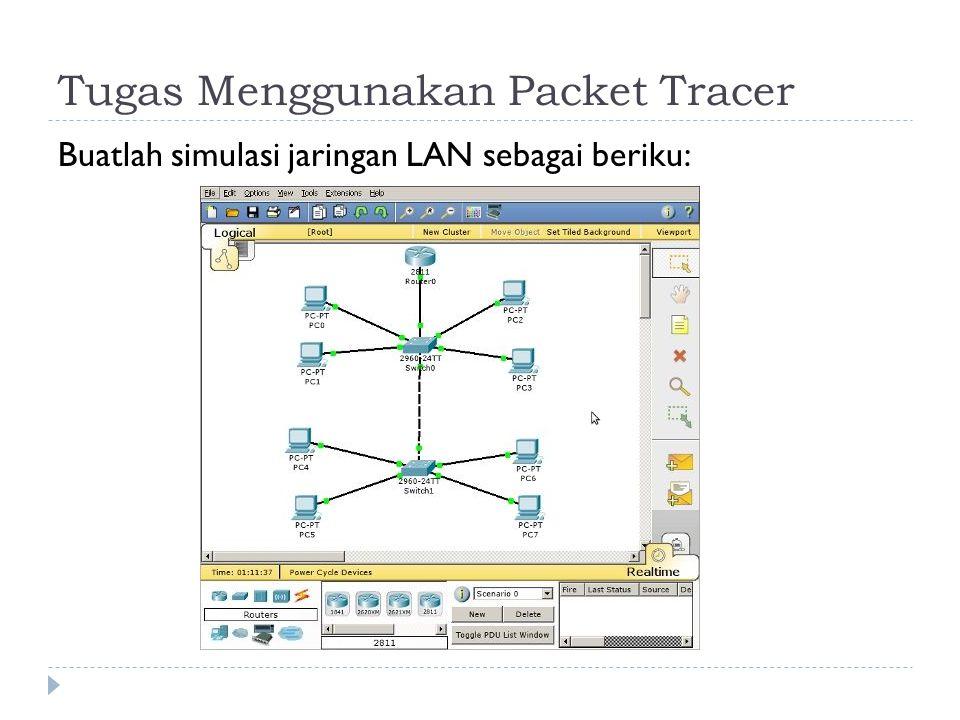Tugas Menggunakan Packet Tracer