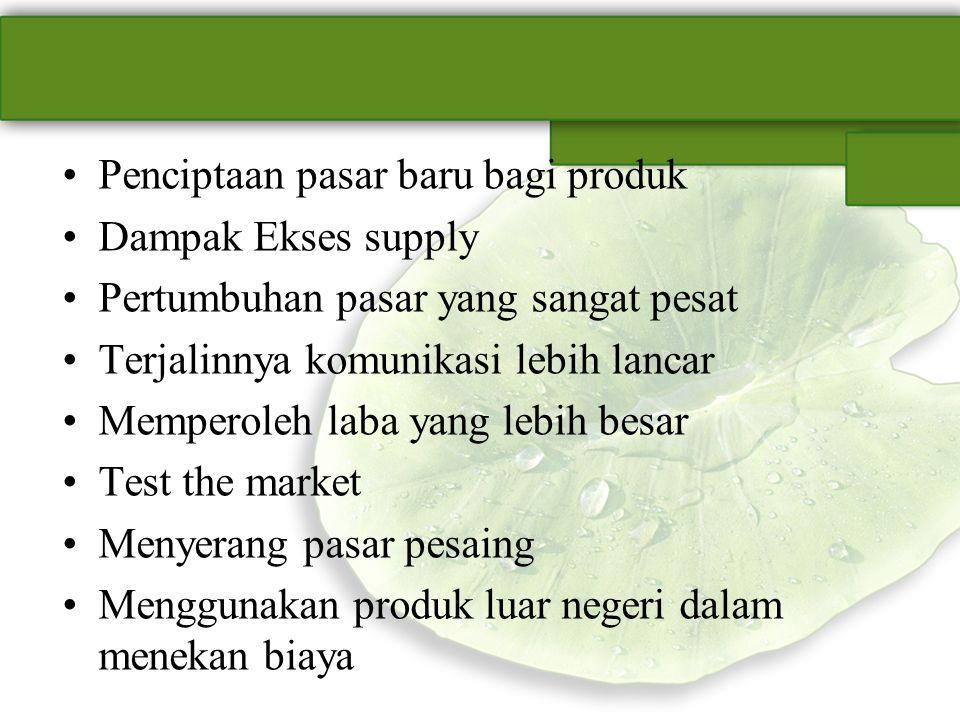 Penciptaan pasar baru bagi produk