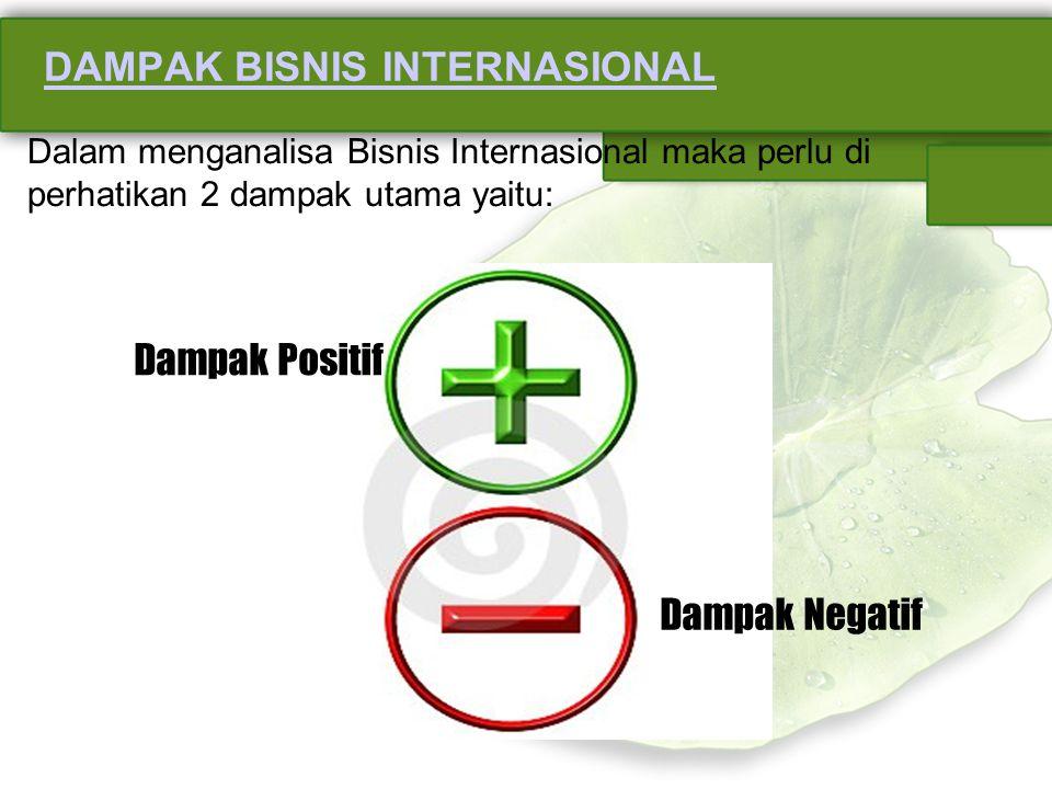 DAMPAK BISNIS INTERNASIONAL