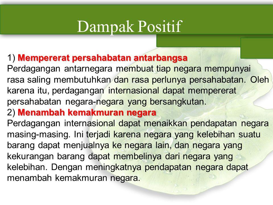 Dampak Positif