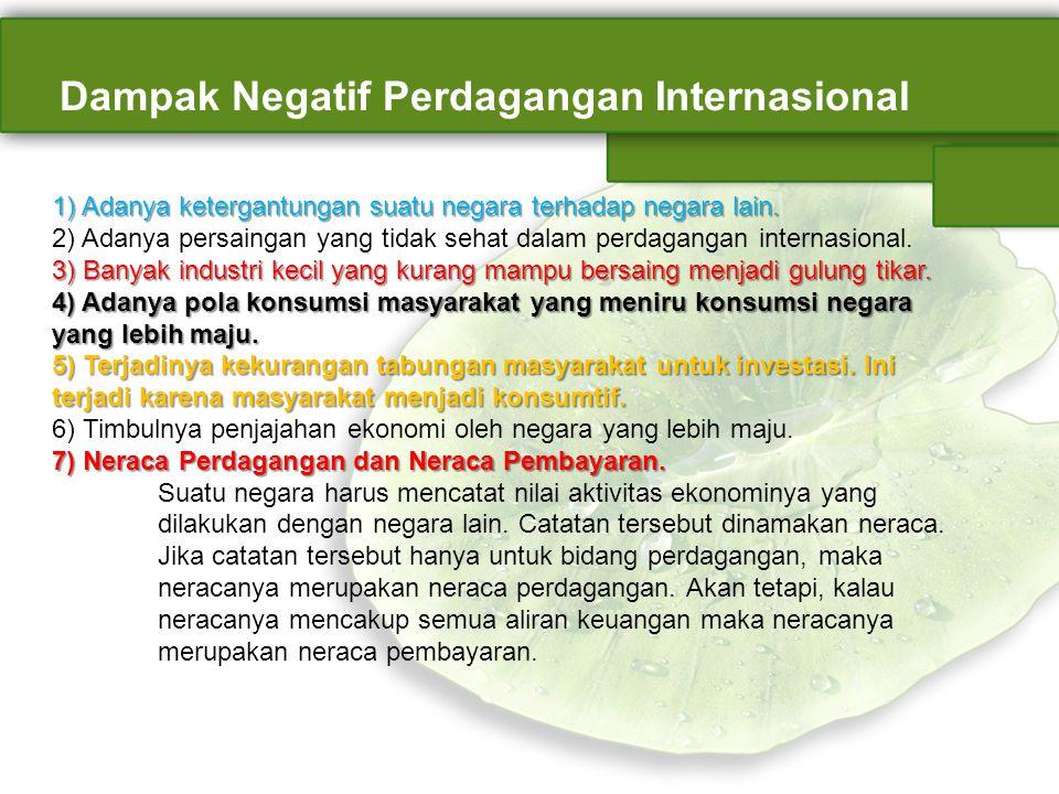 Dampak Negatif Perdagangan Internasional