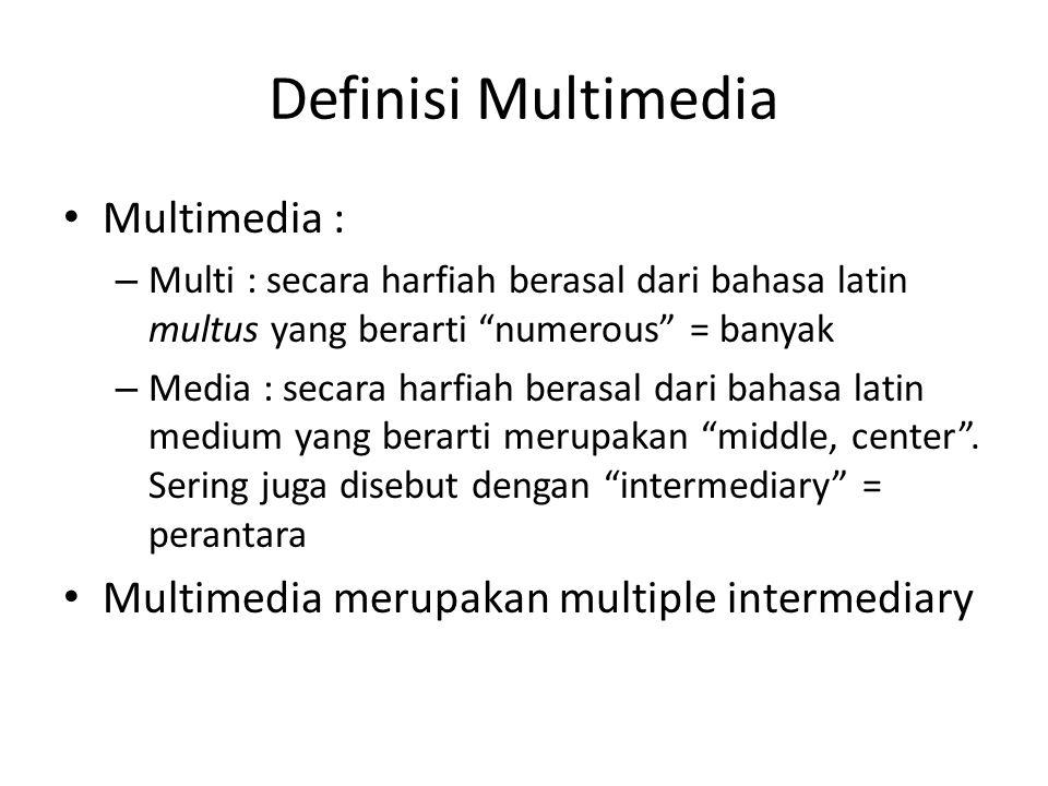 Definisi Multimedia Multimedia :