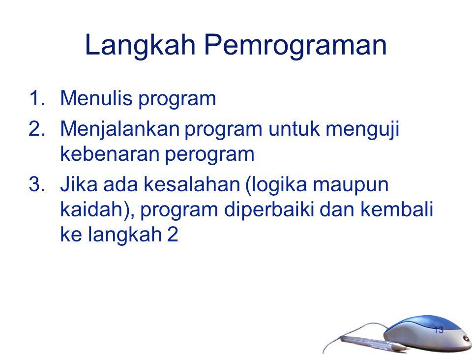 Langkah Pemrograman Menulis program