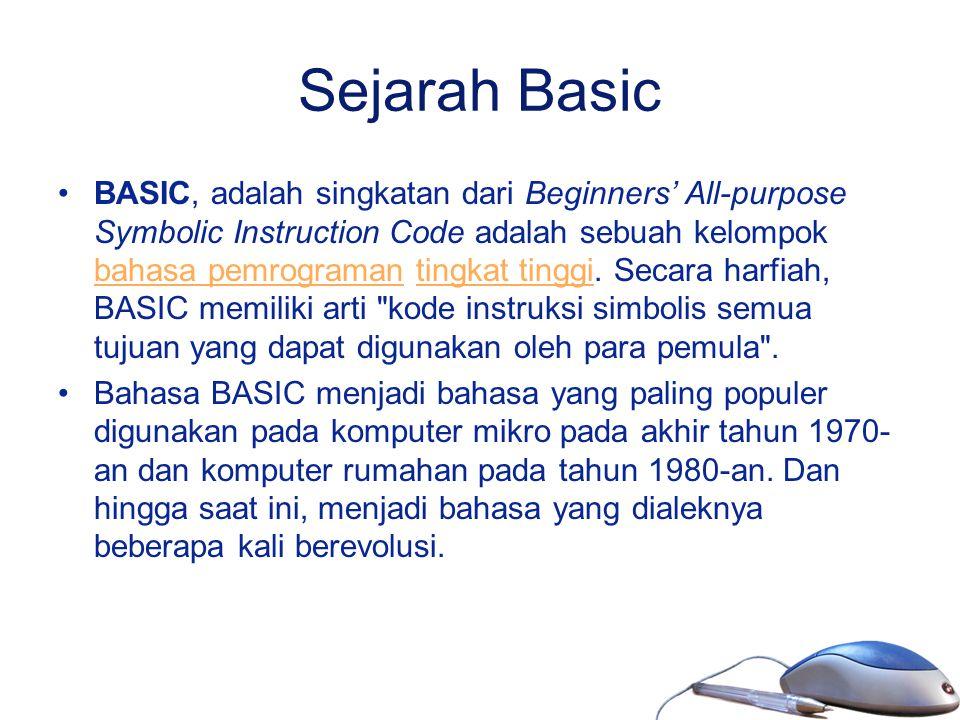 Sejarah Basic