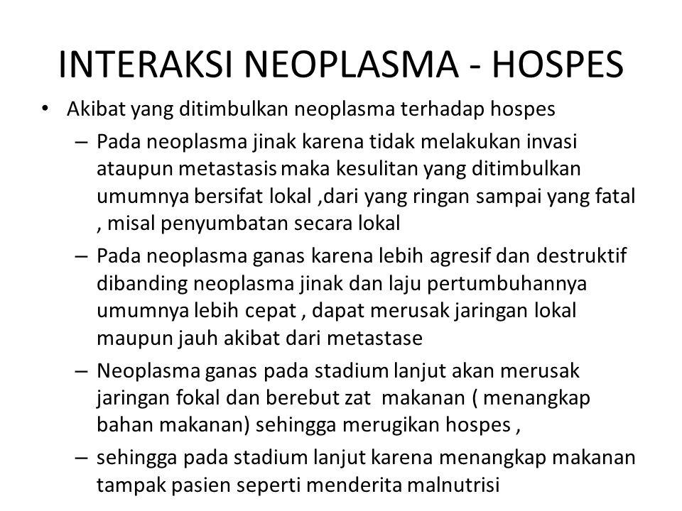 INTERAKSI NEOPLASMA - HOSPES