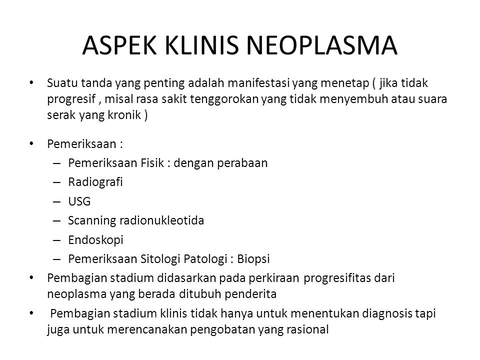 ASPEK KLINIS NEOPLASMA