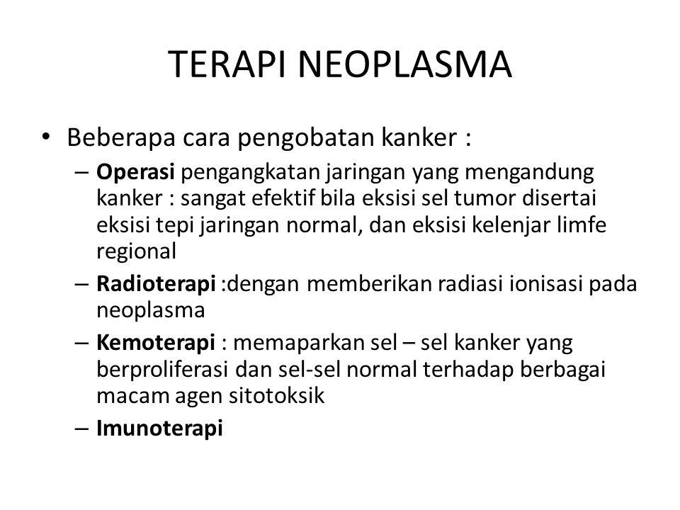 TERAPI NEOPLASMA Beberapa cara pengobatan kanker :
