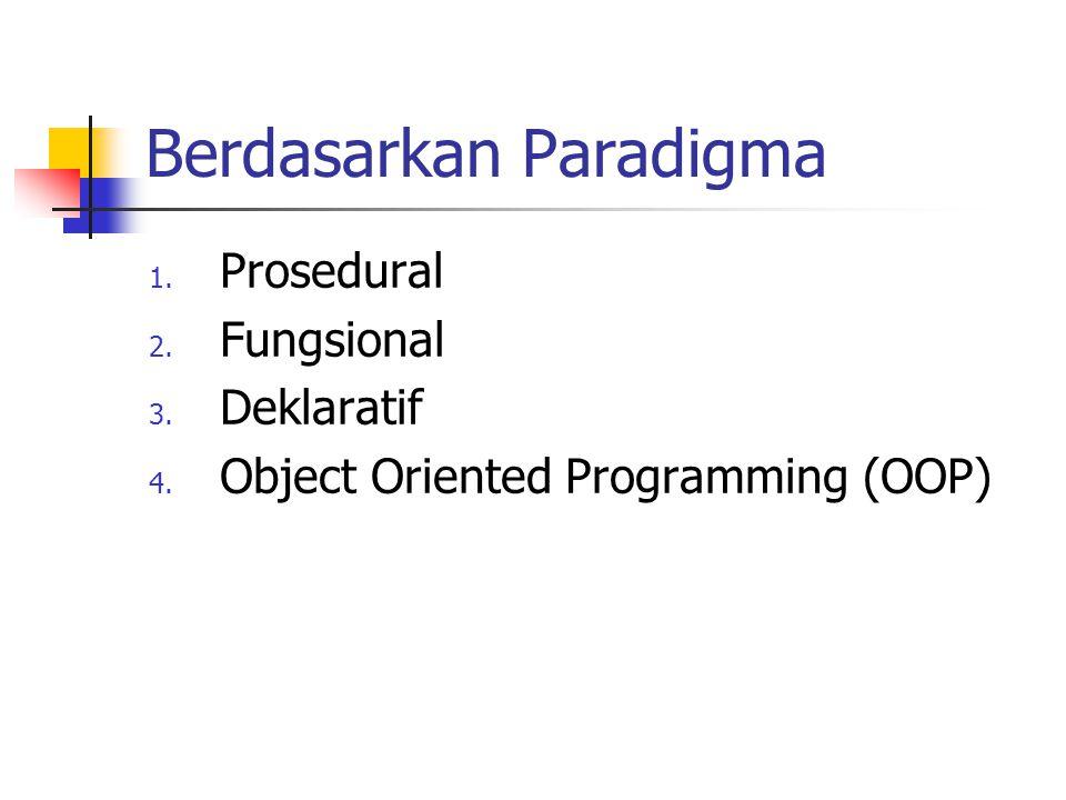 Berdasarkan Paradigma