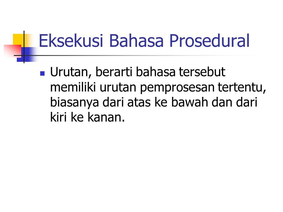 Eksekusi Bahasa Prosedural
