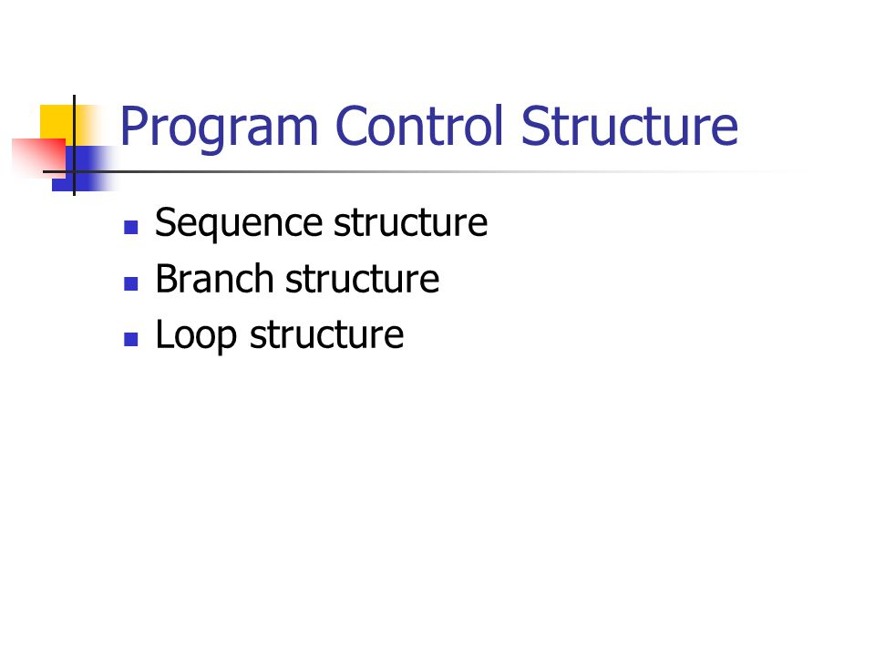 Program Control Structure