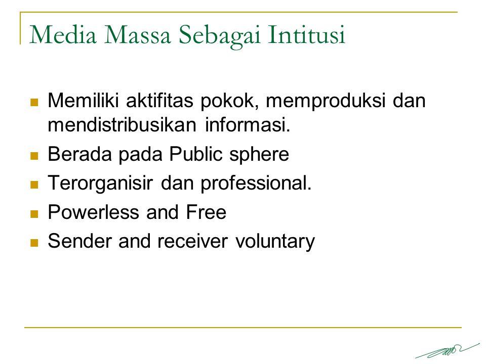 Media Massa Sebagai Intitusi