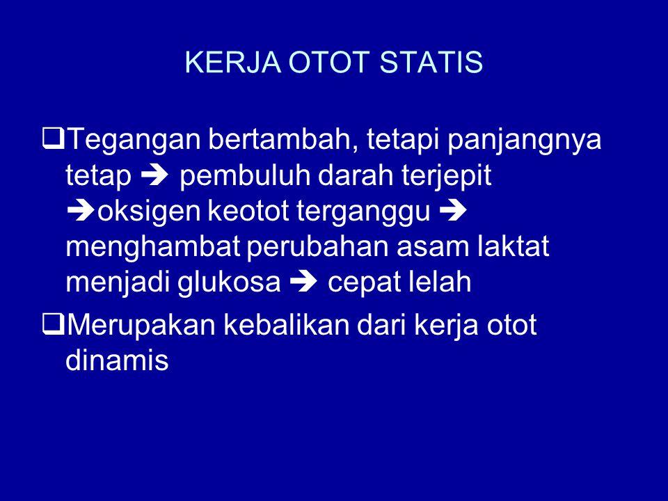 KERJA OTOT STATIS