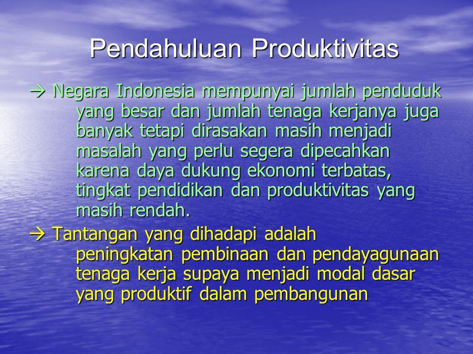 Pendahuluan Produktivitas