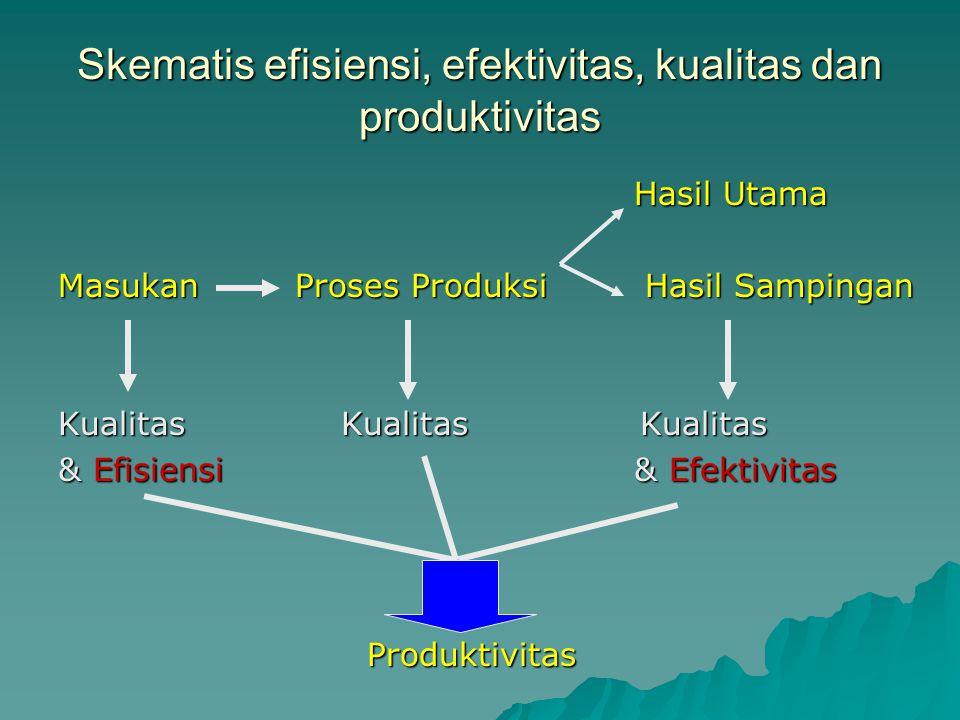 Skematis efisiensi, efektivitas, kualitas dan produktivitas