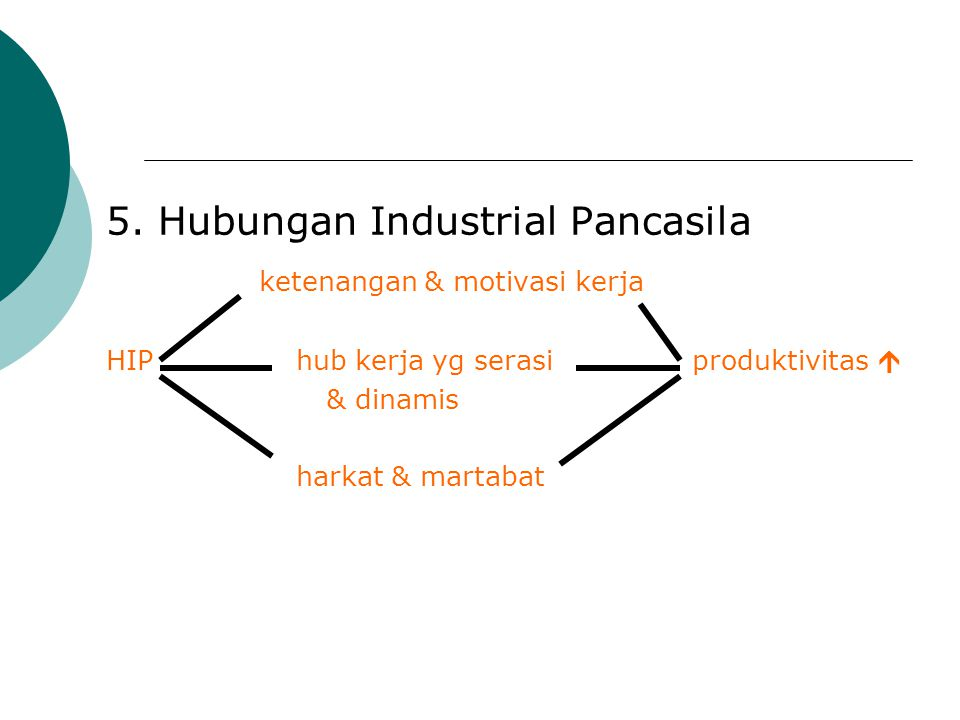 5. Hubungan Industrial Pancasila ketenangan & motivasi kerja