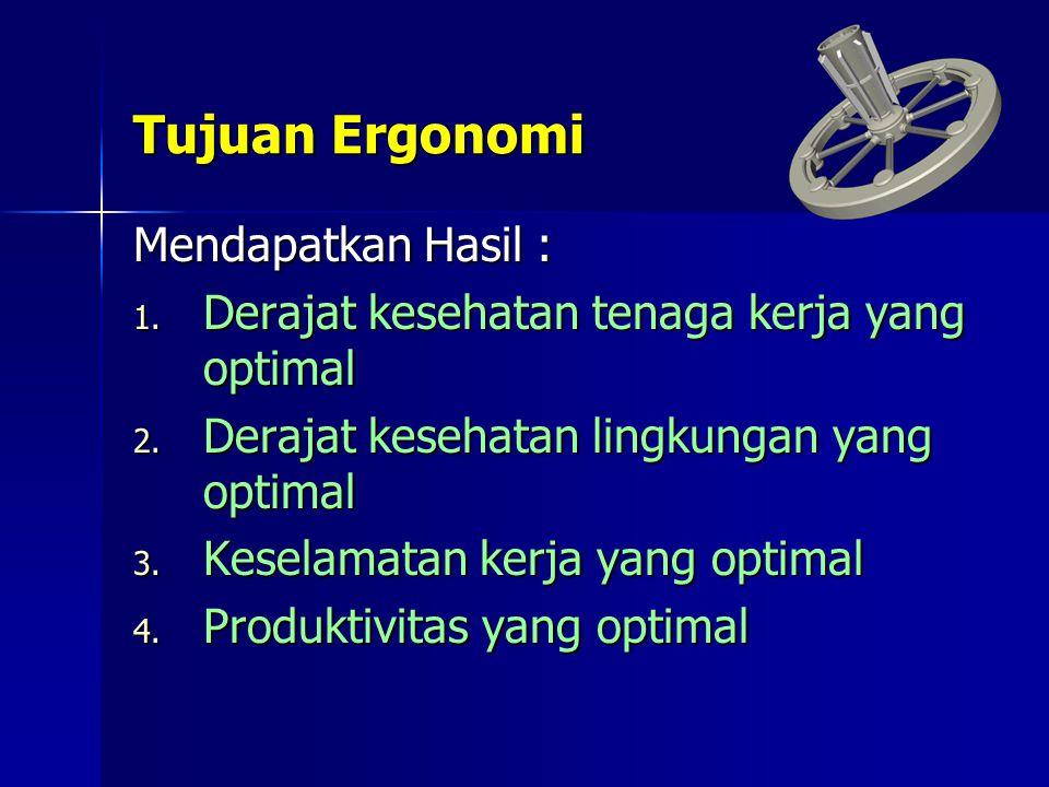 Tujuan Ergonomi Mendapatkan Hasil :