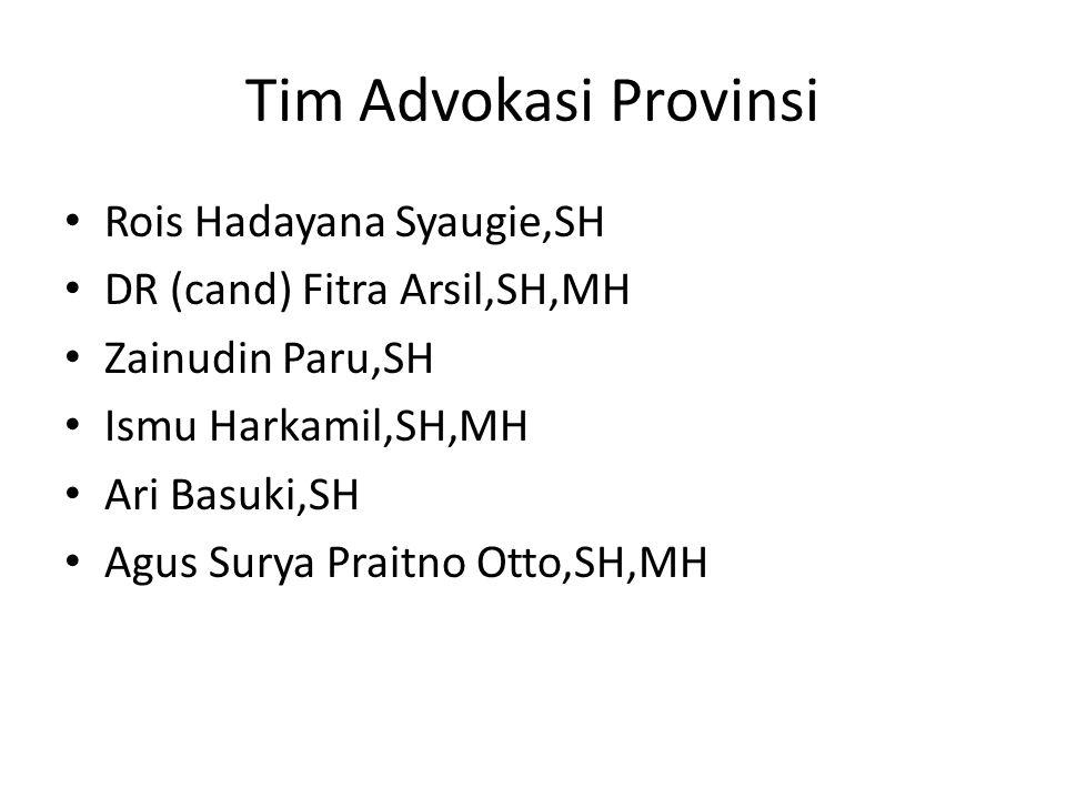 Tim Advokasi Provinsi Rois Hadayana Syaugie,SH