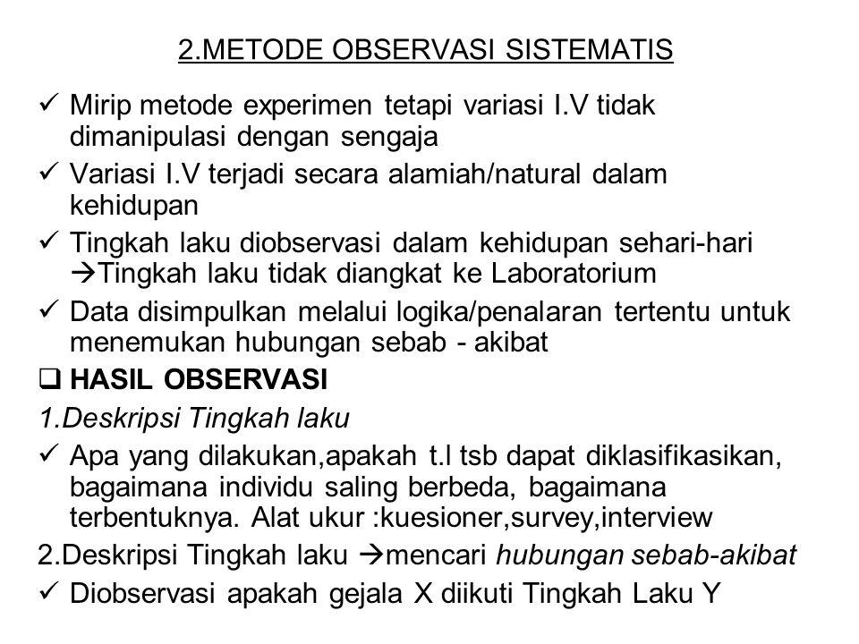 2.METODE OBSERVASI SISTEMATIS