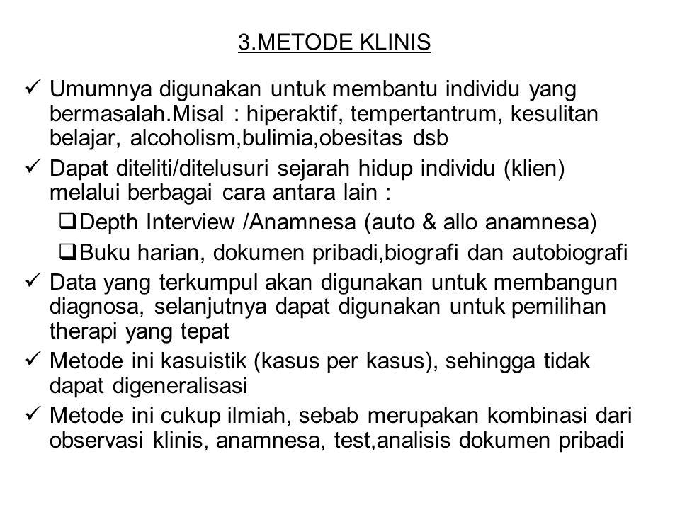 3.METODE KLINIS