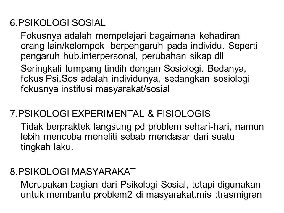 6.PSIKOLOGI SOSIAL
