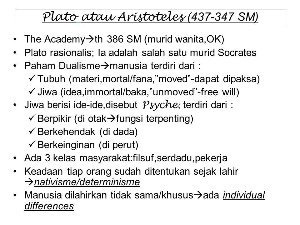 Plato atau Aristoteles (437-347 SM)